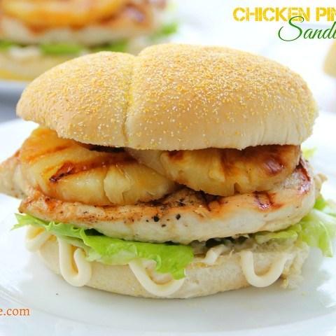 chicken pineapple sandwich