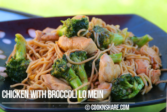 chicken with broccoli lo mein