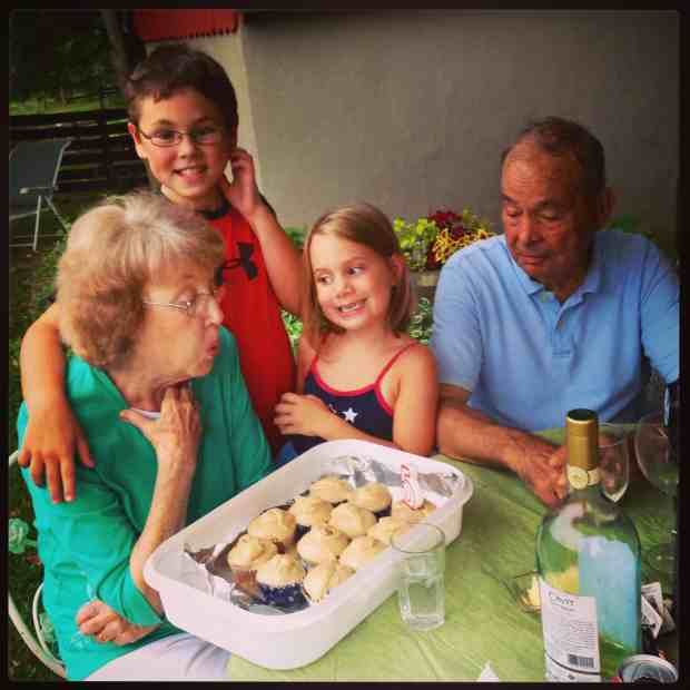 My grandparents and my kids. Love.