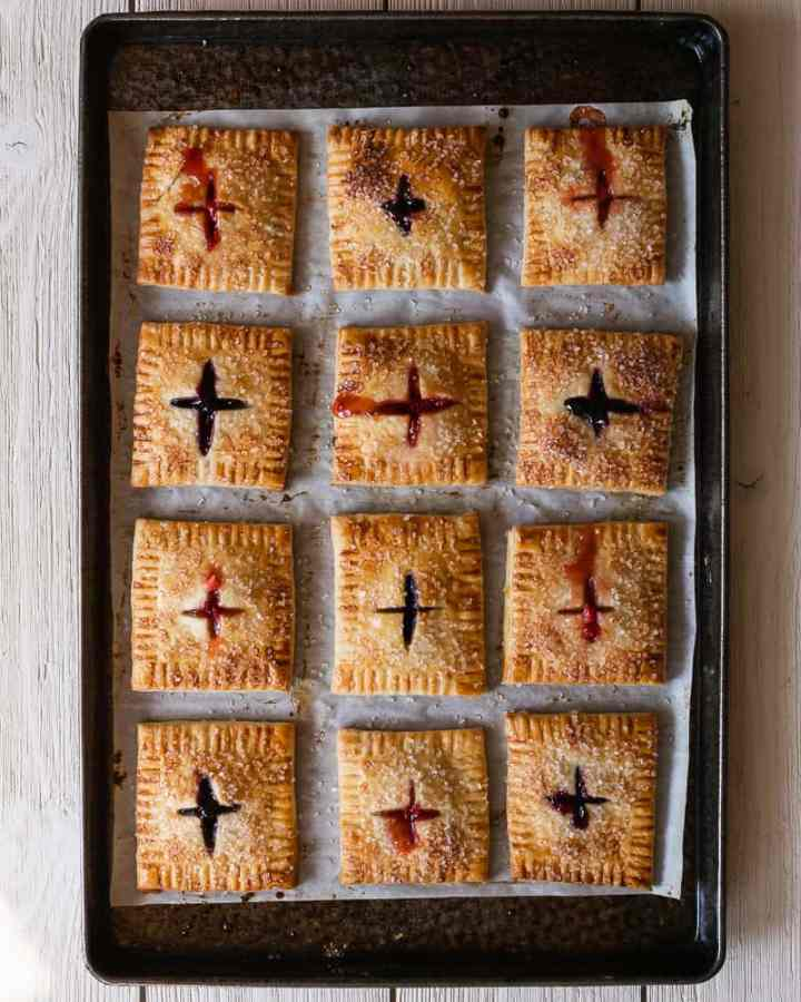 hand pies on baking tray