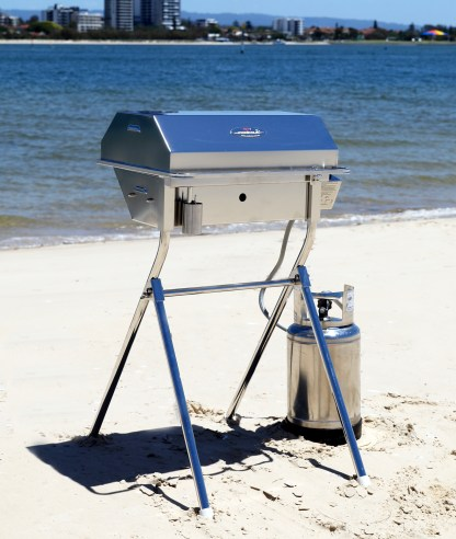 Portable folding BBQ stand