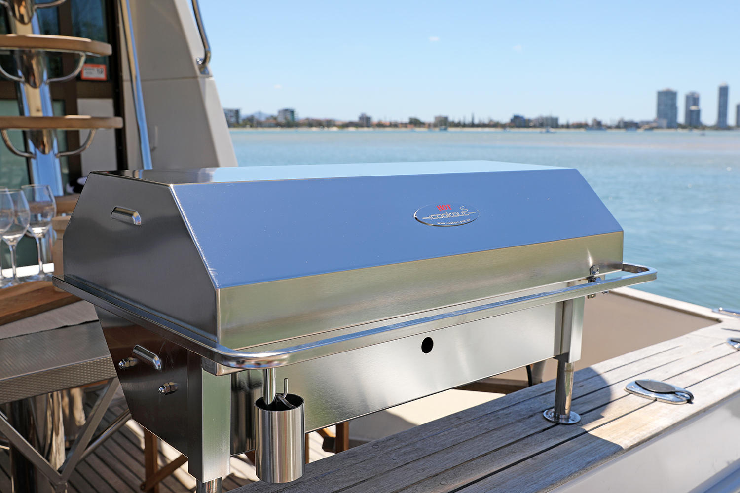 Deluxe Cookout gas stainless BBQ perfect for the boat