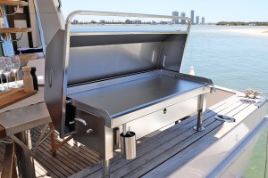 Deluxe gas 316 marine grade stainless steel barbecue on boat Australia