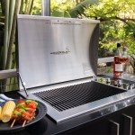Infinity Side Burner Stainless BBQ Lid Open