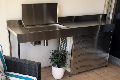 Australian made stainless stel Deluxe Electric Flush Mount BBQ