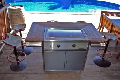 Stainless steel Teppanyaki style BBQ