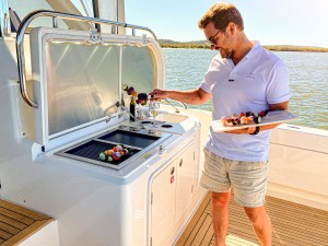 Stainless Steel Epicure Electric Boat BBQ Riviera