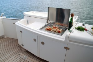 Built-in electric marine Cookout BBQ