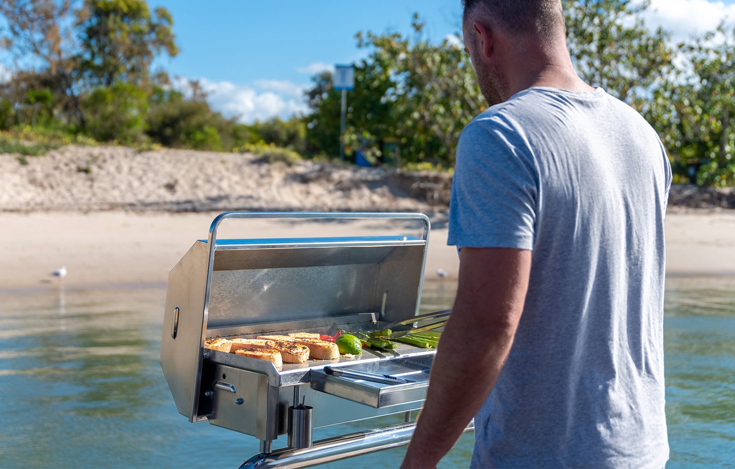 Deluxe gas stainless boat BBQ Australia