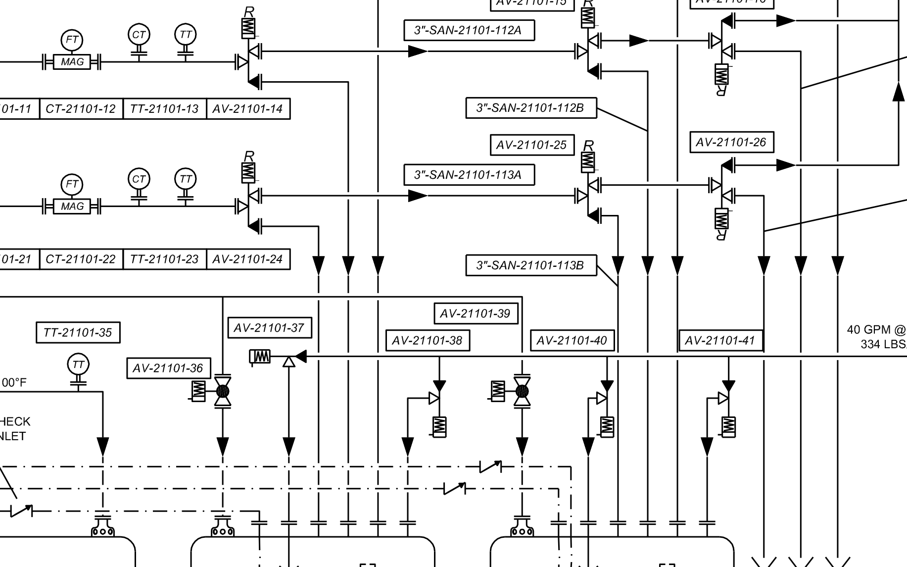 hight resolution of process and instrumentation diagram