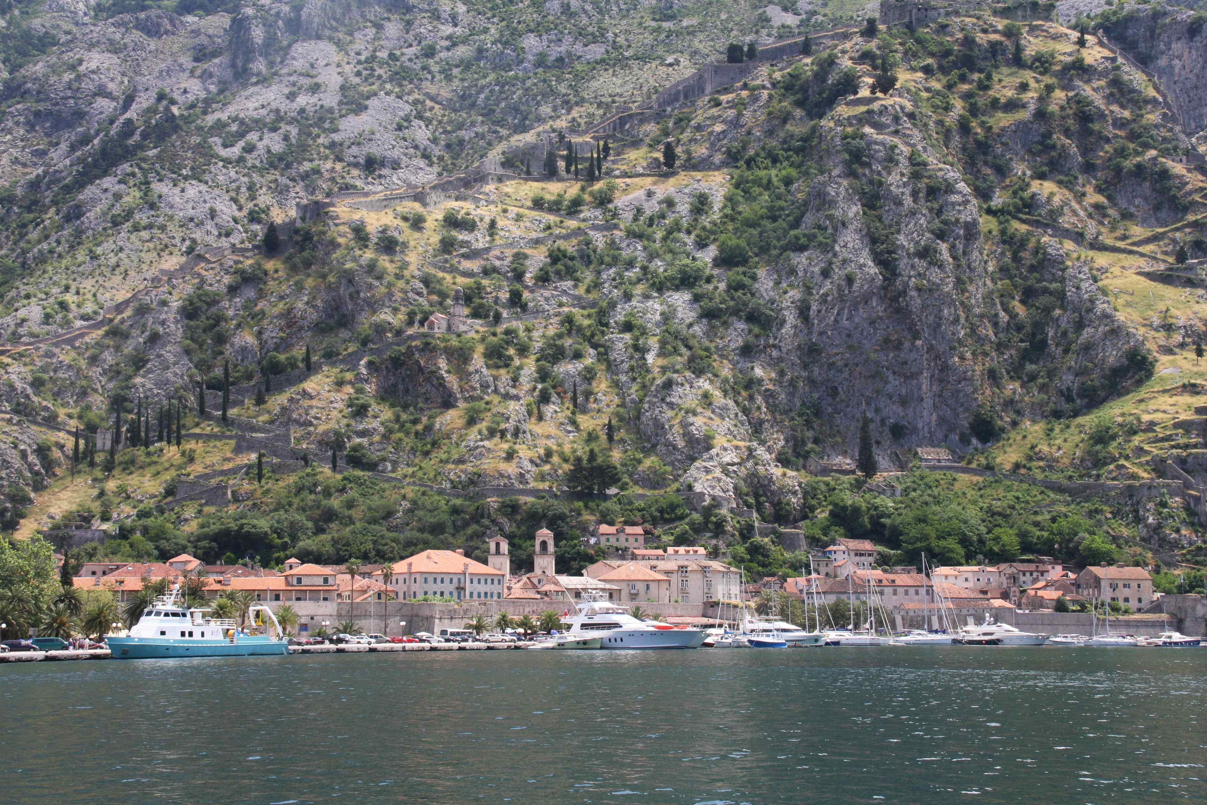 Kotor, Montenegro (note the walls)