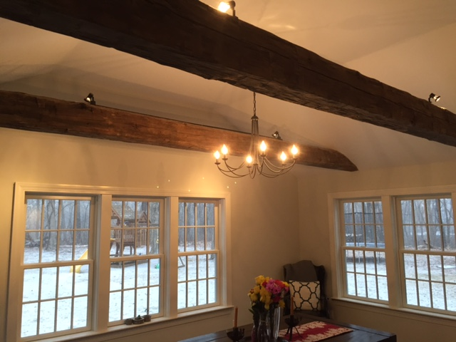 Hand Hewn Pine Beams