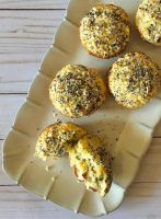 Jalapeno, Corn & Bacon Muffins on a tray.