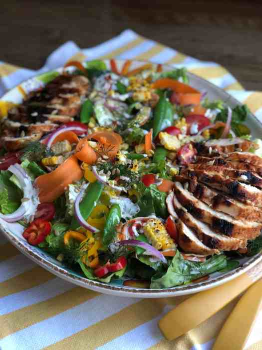 Summer Salad with Buttermilk Ranch Dressing