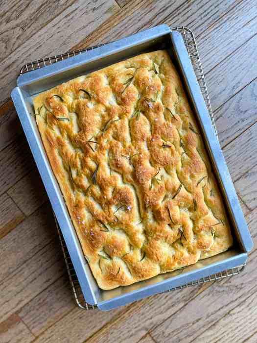 A 13X9 pan of Rosemary-Garlic Focaccia Bread