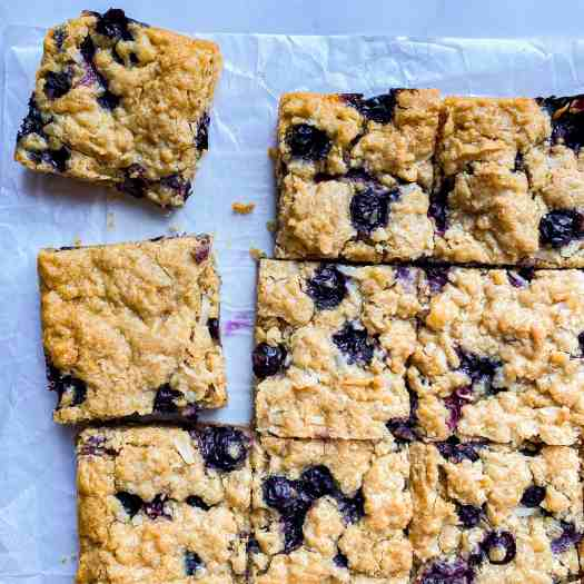 Blueberry Coconut Blondies