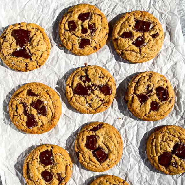 Peanut Butter Chopped Chocolate Cookies