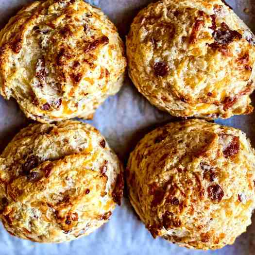 Cheddar and Bacon Buttermilk Biscuits