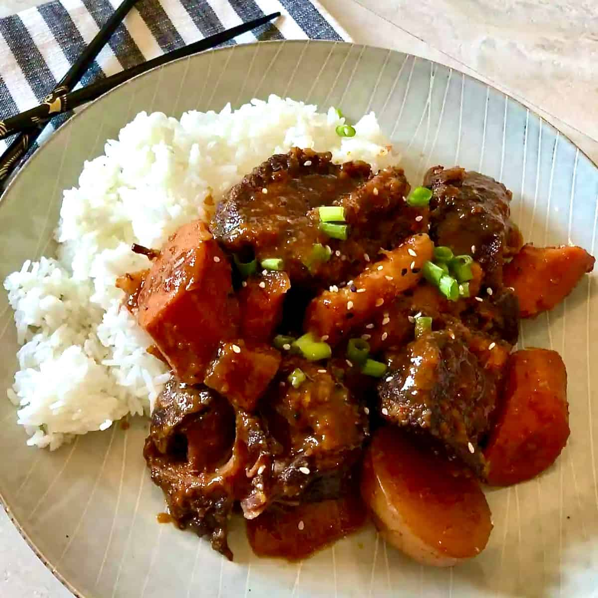 Slow Cooker Galbi Jjim (Korean Short Ribs)