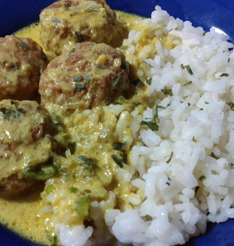 Receta de albondigas al curry