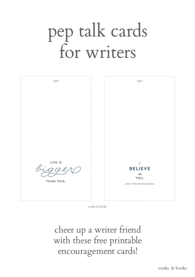 Encouragement greeting cards for writers pin
