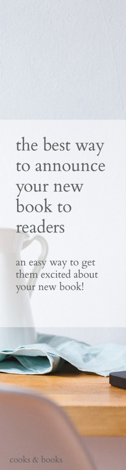 How to announce a book to readers
