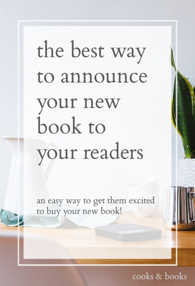 How to announce a book deal to your readers
