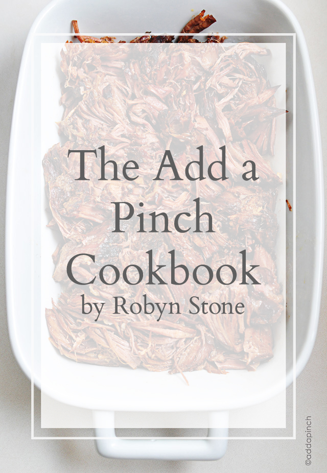 the add a pinch cookbook by robyn stone book deal