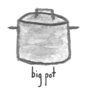 big pot watercolor icon