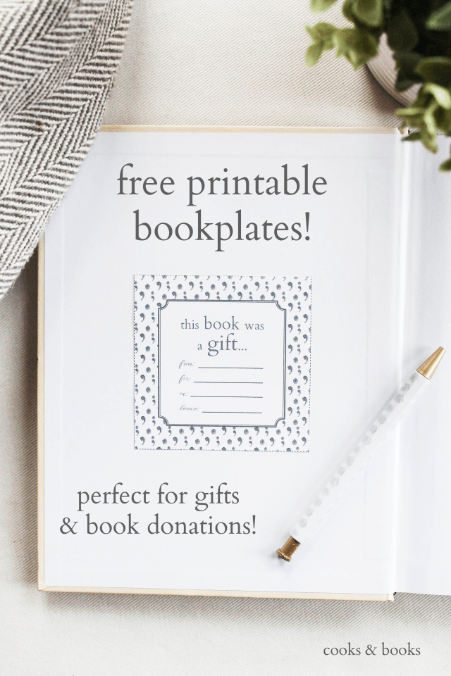 free printable bookplates for donated books