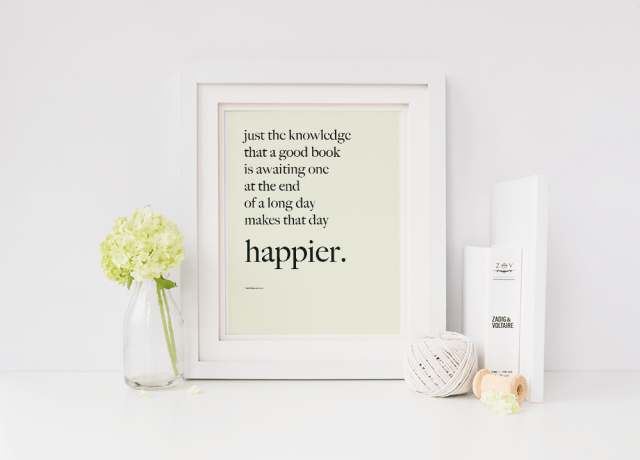 good book at the end of a long day kathleen norris quote art print