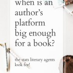 When is my platform big enough for a book?