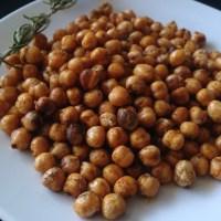 Crispy Roasted Chickpeas (grão de bico crocante)