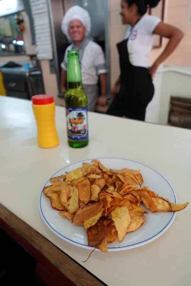 Yuca frita or cassava Cuba
