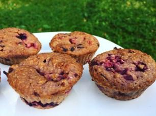 vegan fruity muffins