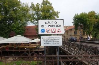 uzupis republic sign