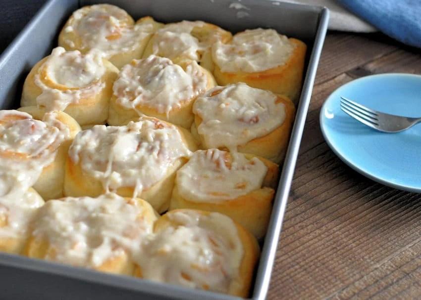 Orange Cream Cheese Cinnamon Rolls