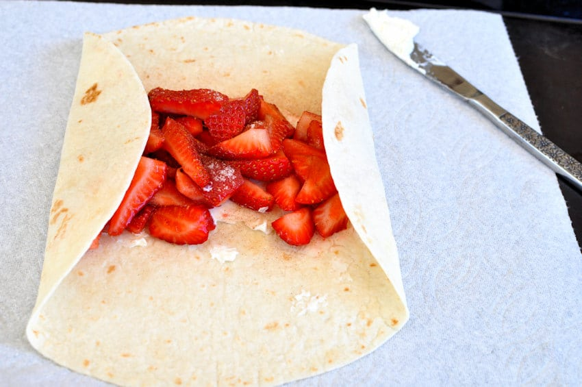 Strawberry Burritos