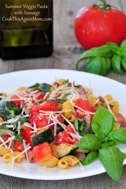 Summer Veggie Pasta with Sausage