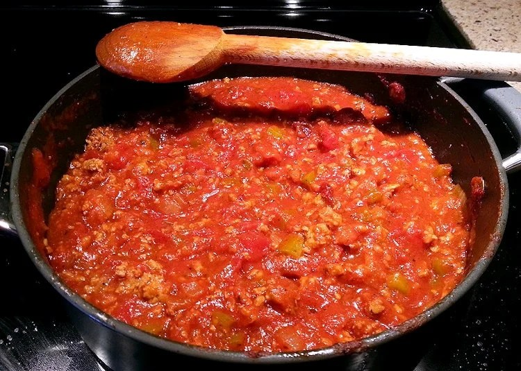Spiced Up Ground Turkey Spaghetti Sauce