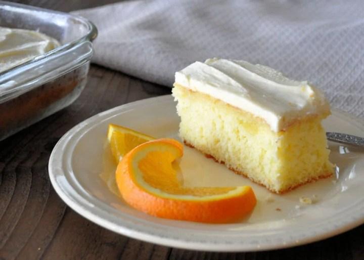 Fresh Orange Cake with Cream Cheese Frosting