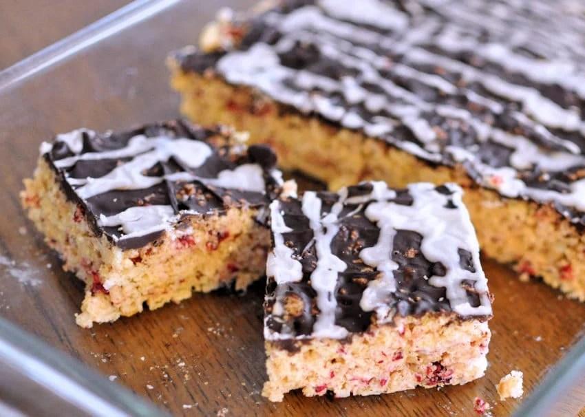 Chocolate Raspberry Rice Krispies Cookies