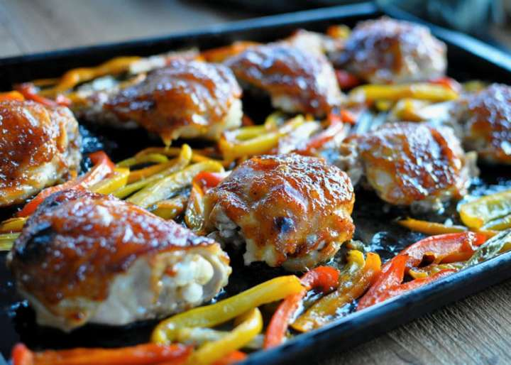 Baked Sweet and Sour Chicken Thighs