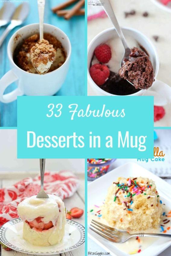 33 Fabulous Desserts in a Mug