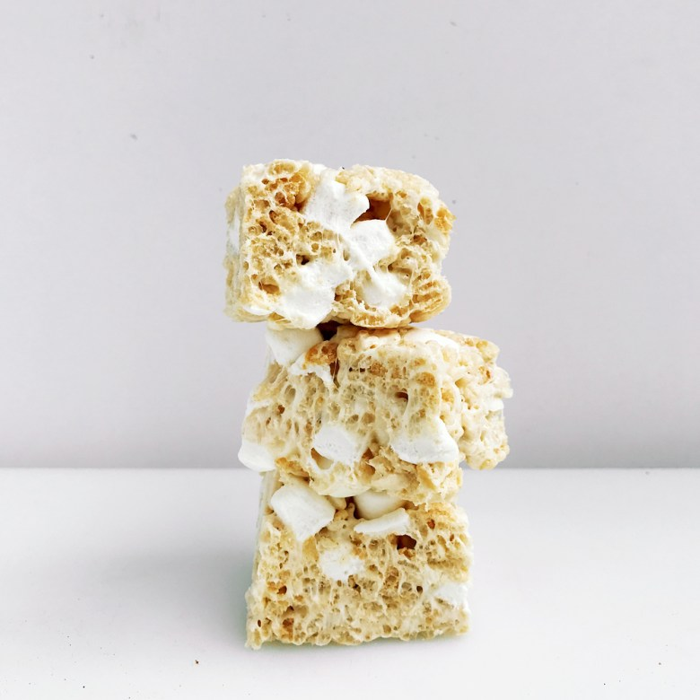rice krispie treat stack