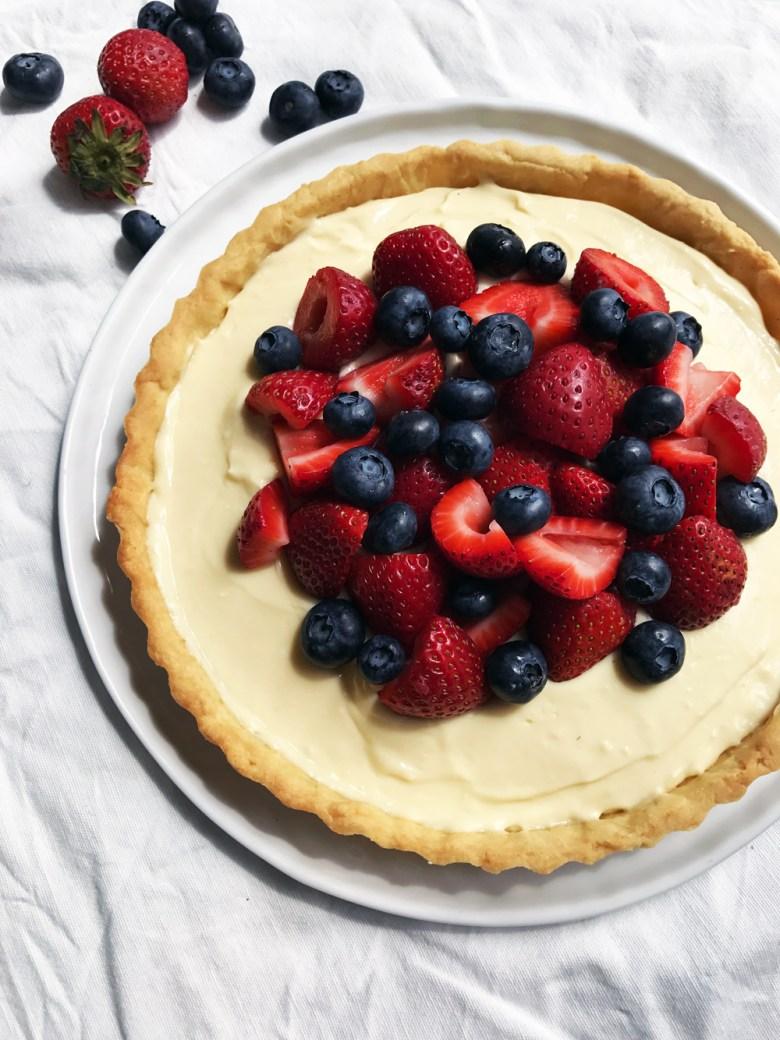berry mascarpone tart no crumb