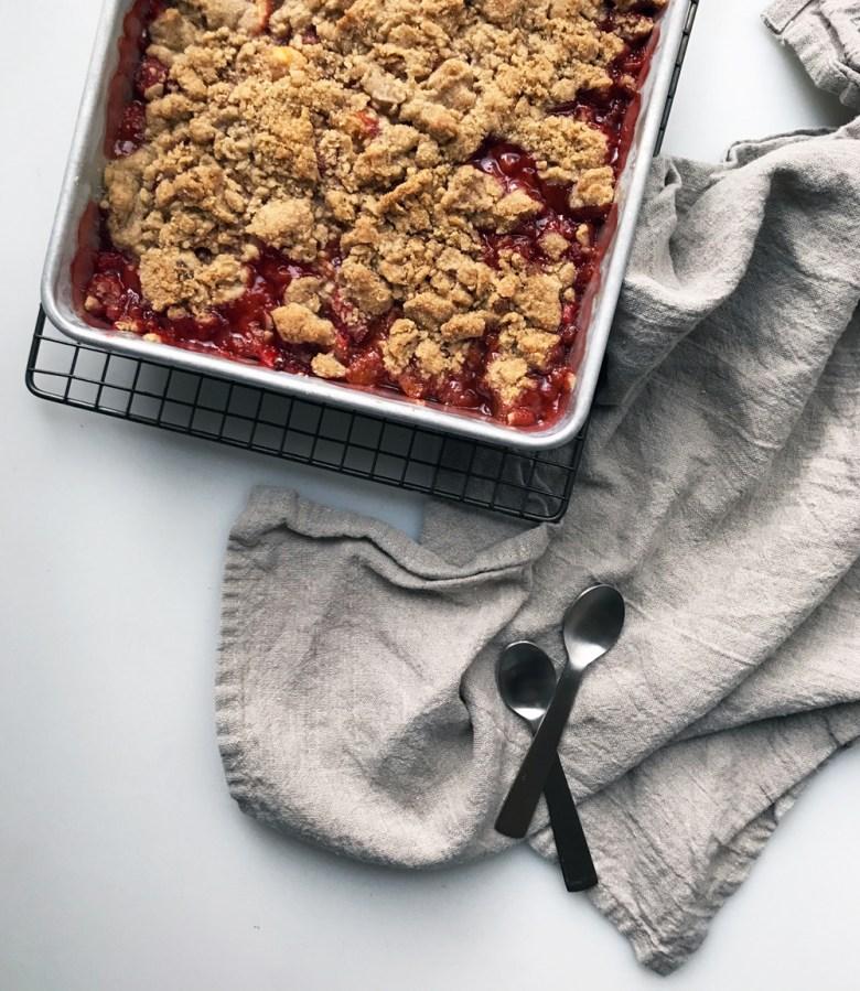 cherry berry almond crumble
