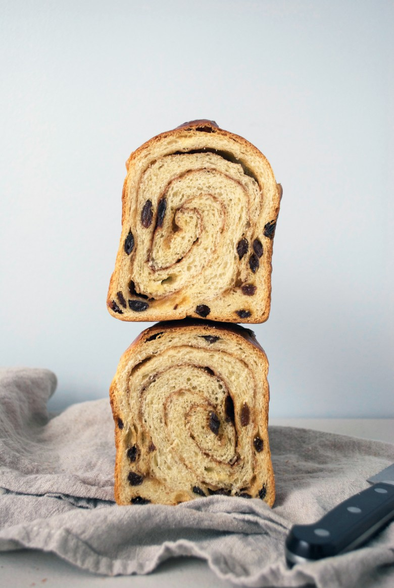 stacked swirl bread