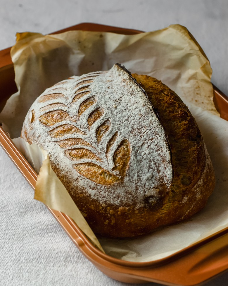 einkorn rye sourdough bloom