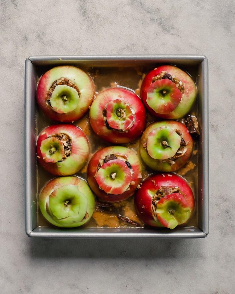 cider baked apples before bake